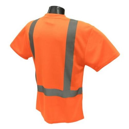 Radians ST11 Class 2 High Visibility Safety Shirt, Orange Back