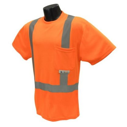 Radians ST11 Class 2 High Visibility Safety Shirt, Orange Front