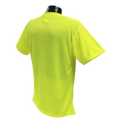 Radians ST11-N Non-rated High-visibility Safety Shirt, Yellow Back