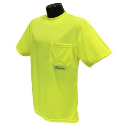 Radians ST11-N Non-rated High-visibility Safety Shirt, Yellow Front