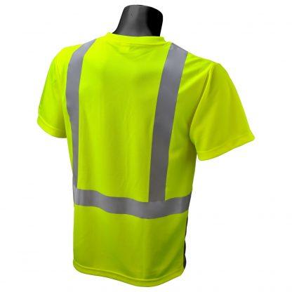 Radians ST11B Type R Class 2 Short Sleeve Black Botton T-shirt, Green Back