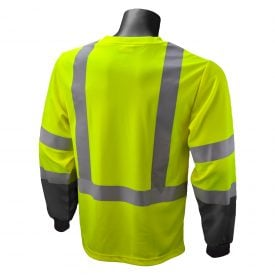 Radians ST21B Class 3 High Visibility Long Sleeve T-shirt w/ max dri moisture wicking technology, Back