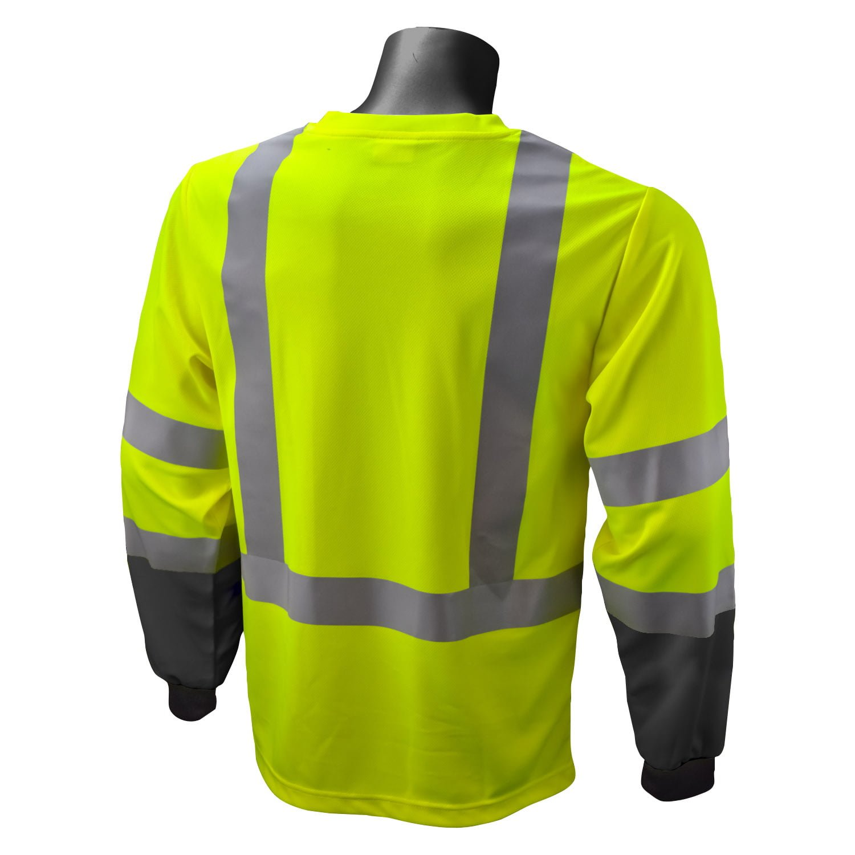Radians St21b Reflective Black Bottom T Shirt Iwantworkwear