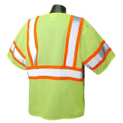 Radians SV22-3 Class 3 Economy Safety Vest, Green Back