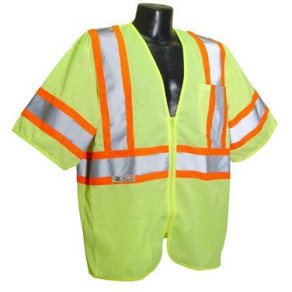 Radians SV22-3 Class 3 Economy Safety Vest, Green Front