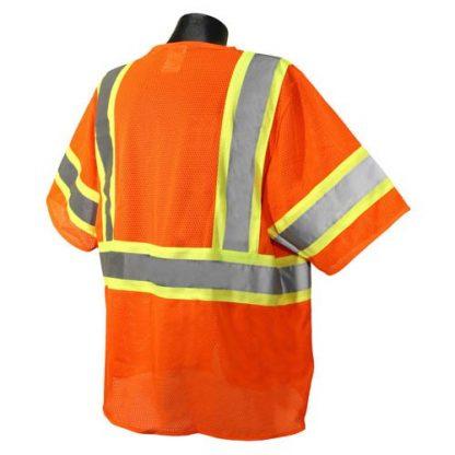 Radians SV22-3 Class 3 Economy Safety Vest, ORange Back