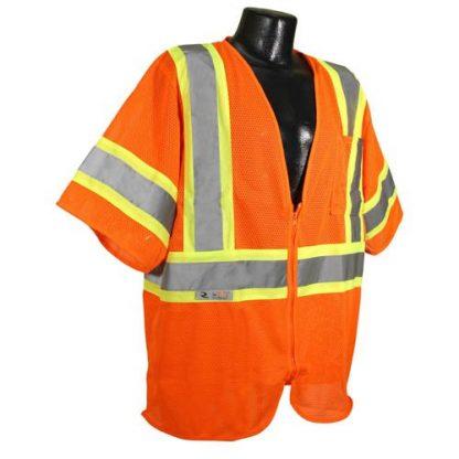 Radians SV22-3 Class 3 Economy Safety Vest, ORange Front