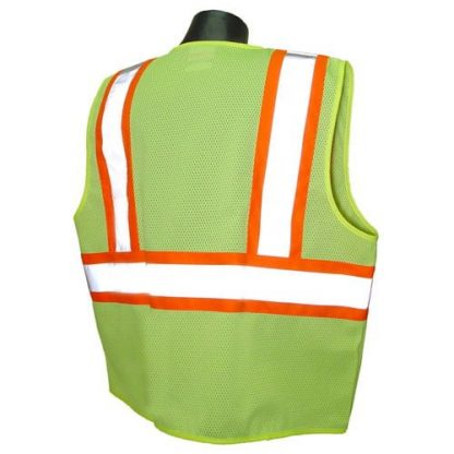 Radians SV225 Class 2 Flame Resistant Safety Vest, Green Back