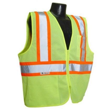 Radians SV225 Class 2 Flame Resistant Safety Vest, Green Front