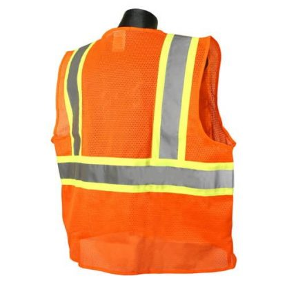 Radians SV225 Class 2 Flame Resistant Safety Vest, Orange Back