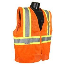 Radians SV225 Class 2 Flame Resistant Safety Vest, Orange Front