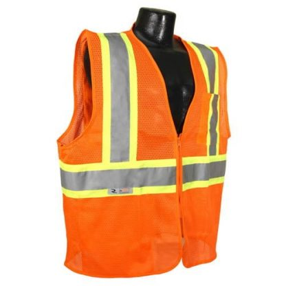 Radians SV225 Class 2 Flame Resistant Safety Vest, Orange Front