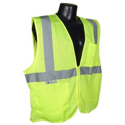 Radians SV25 Class 2 Flame Resistant Self Extinguishing Safety Vest, Green Front