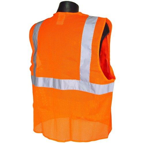 Radians SV25 Class 2 Flame Resistant Self Extinguishing Safety Vest, Orange Back