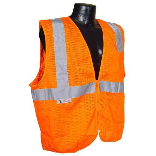 Radians SV25 Class 2 Flame Resistant Self Extinguishing Safety Vest, Orange Front