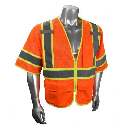 Radians SV272-3 Class 3 Multi-purpose Surveyor Vest Orange Front