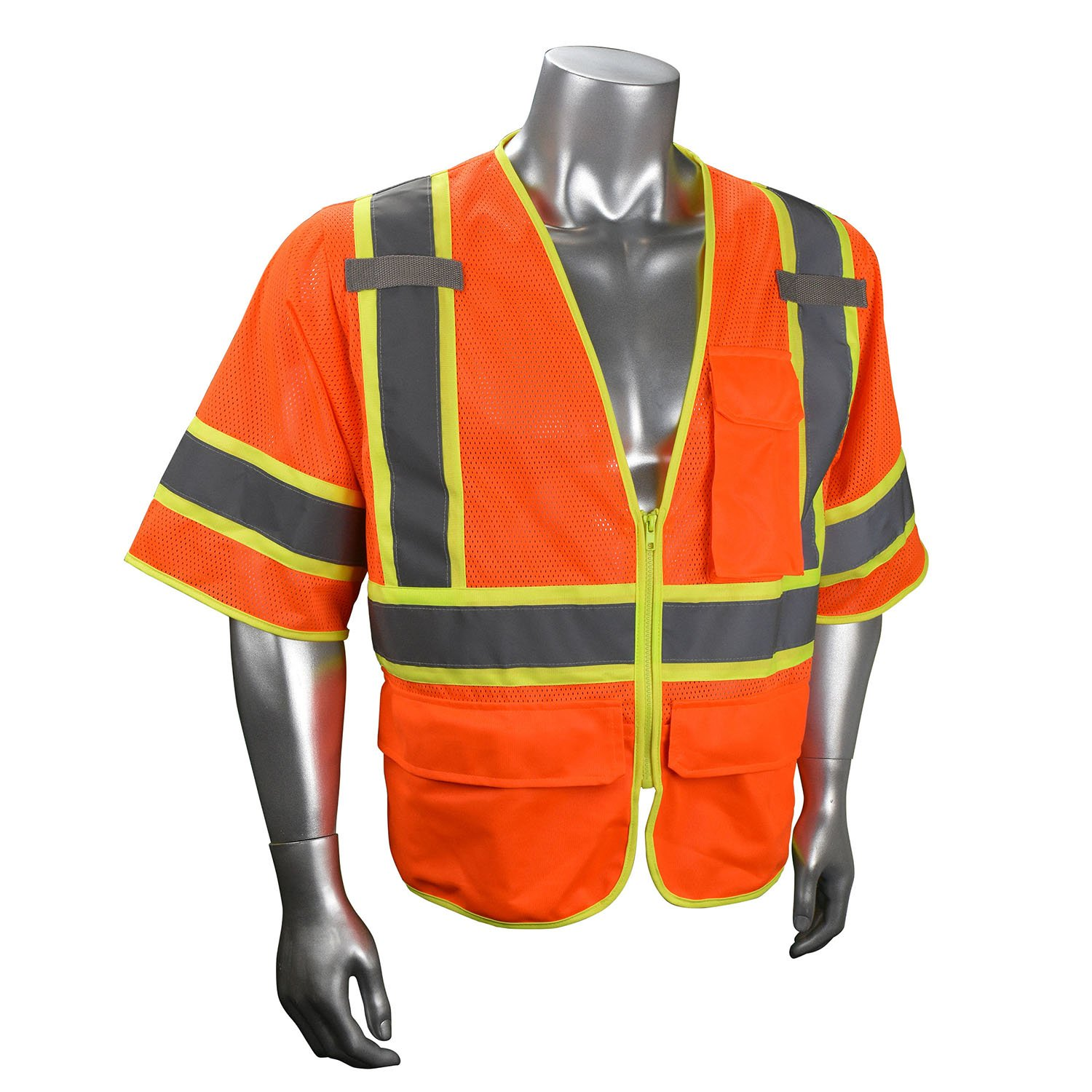 94baad9db79 Radians SV272-3 Class 3 Multi-purpose Surveyor Vest Orange Front