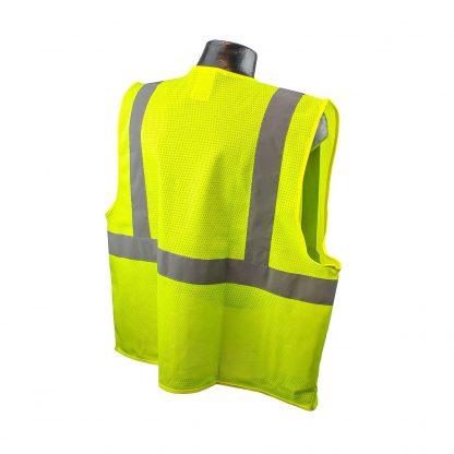 Radians SV2 Mesh Hi-viz Green Safety Vest Back
