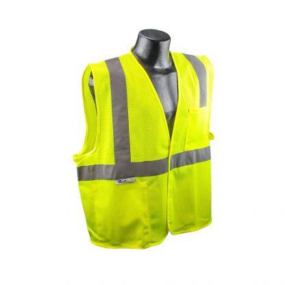 Radians SV2 Mesh Hi-viz Green Safety Vest Front