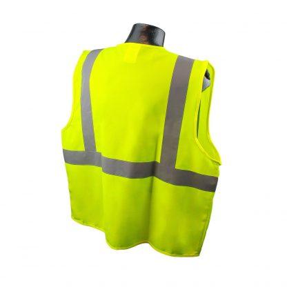 Radians SV2 Solid Hi-viz Green Safety Vest Back