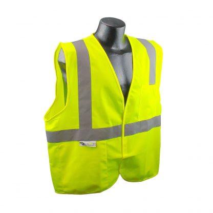 Radians SV2 Solid Hi-viz Green Safety Vest Front