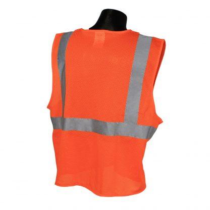 Radians SV2 Mesh Orange Safety Vest Back