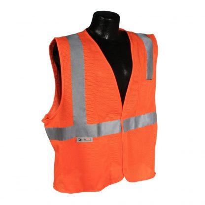 Radians SV2 Mesh Orange Safety Vest Front