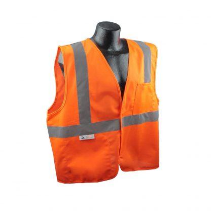 Radians SV2 Solid Orange Safety Vest Front