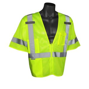 Radians SV3 Economy Mesh Class 3 Safety Vest High Visibility Green, Front