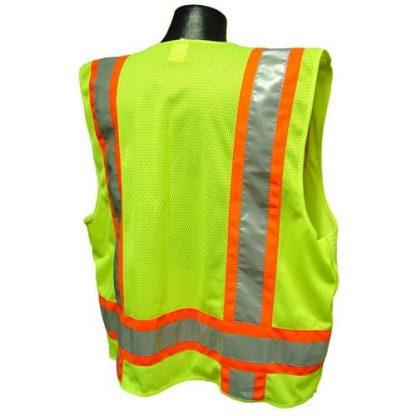 Radians SV46 Surveyor Class 2 Breakaway Safety Vest Green Back