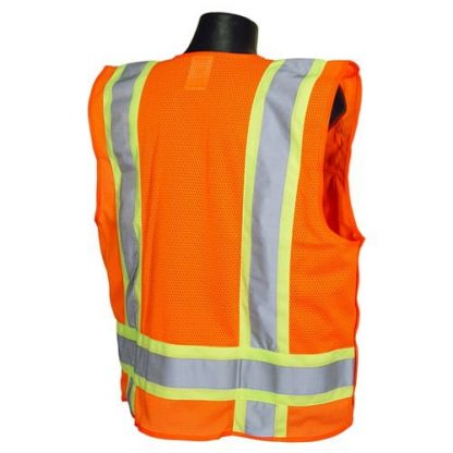 Radians SV46 Surveyor Class 2 Breakaway Safety Vest Orange Back
