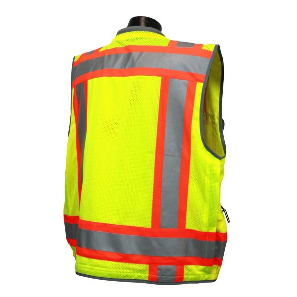 Radians SV55 Heavy-woven Two-tone Engineer Safety Vest back