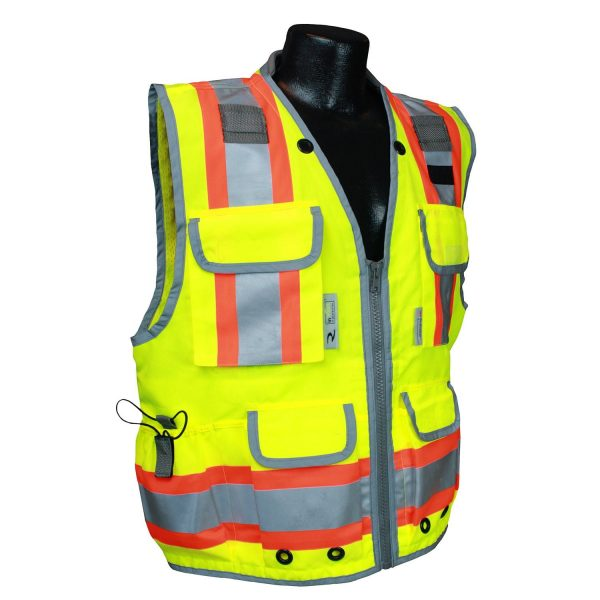 Radians SV55 Heavy-woven Two-tone Engineer Safety Vest Front