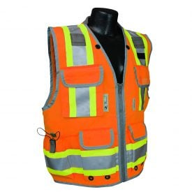 Radians SV55 Heavy-woven Two-tone Engineer Safety Vest Orange, Front