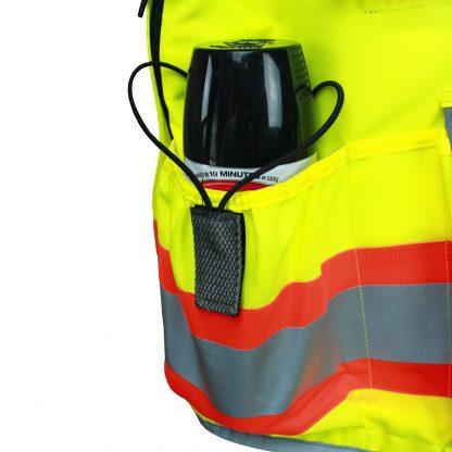 Radians SV55 Heavy-woven Two-tone Engineer Safety Vest Orange Pocket Detail
