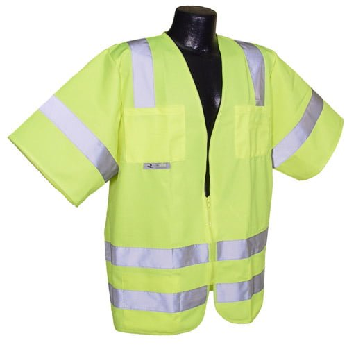 Radians SV83 Class 3 Standard Safety Vest, High Visibility Green Solid Front