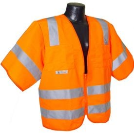 Radians SV83 Class 3 Standard Safety Vest, High Visibility Orange Solid