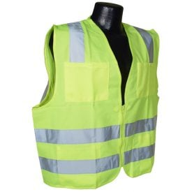 Radians SV8 Class 2 Standard Safety Vest, Green Solid Front