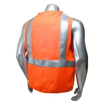 Radians sv92j Class 2 Fire resistant Safety Vest, High Visibility Orange Back