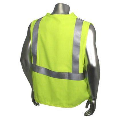 Radians sv92j Class 2 Fire resistant Safety Vest, High Visibility Green Back