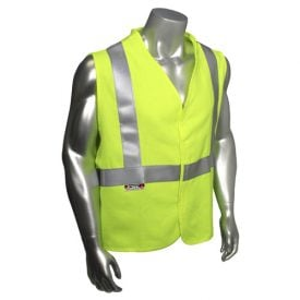 Radians sv92j Class 2 Fire resistant Safety Vest, High Visibility Green Front