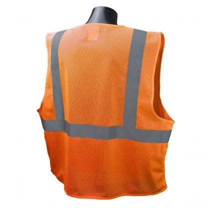 Radians SVE1-2ZOM Class 2 Safety Vest Orange, Back
