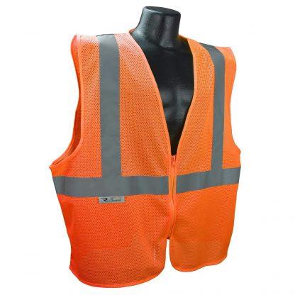 Radians SVE1-2ZOM Class 2 Safety Vest Orange, Front