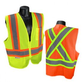 Radians SV22X Class 2 Mesh Safety Vest with Two-tone Reflective Striping X-Back
