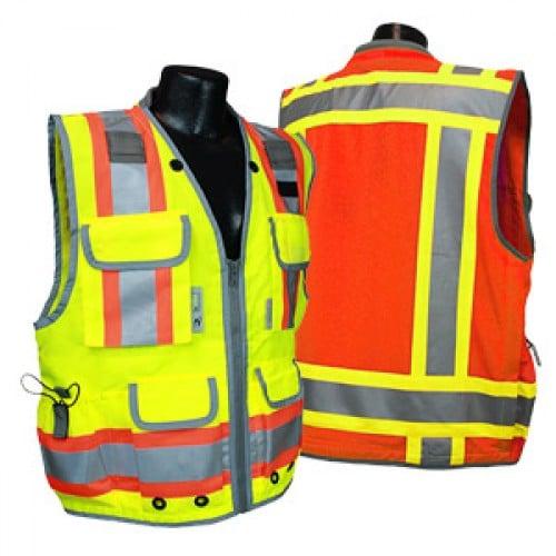 Radians Sv55 Heavy Duty Safety Vest 7 Pockets Iwantworkwear