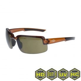 Radians Crossfire ES6 Safety Glasses, 441107 HD Brown Lens with Crystal Brown Frame