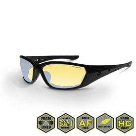Radians Crossfire 3541 Foam Lined Safety Glasses, 35231 I/O Revo AF, matte black, foam lined