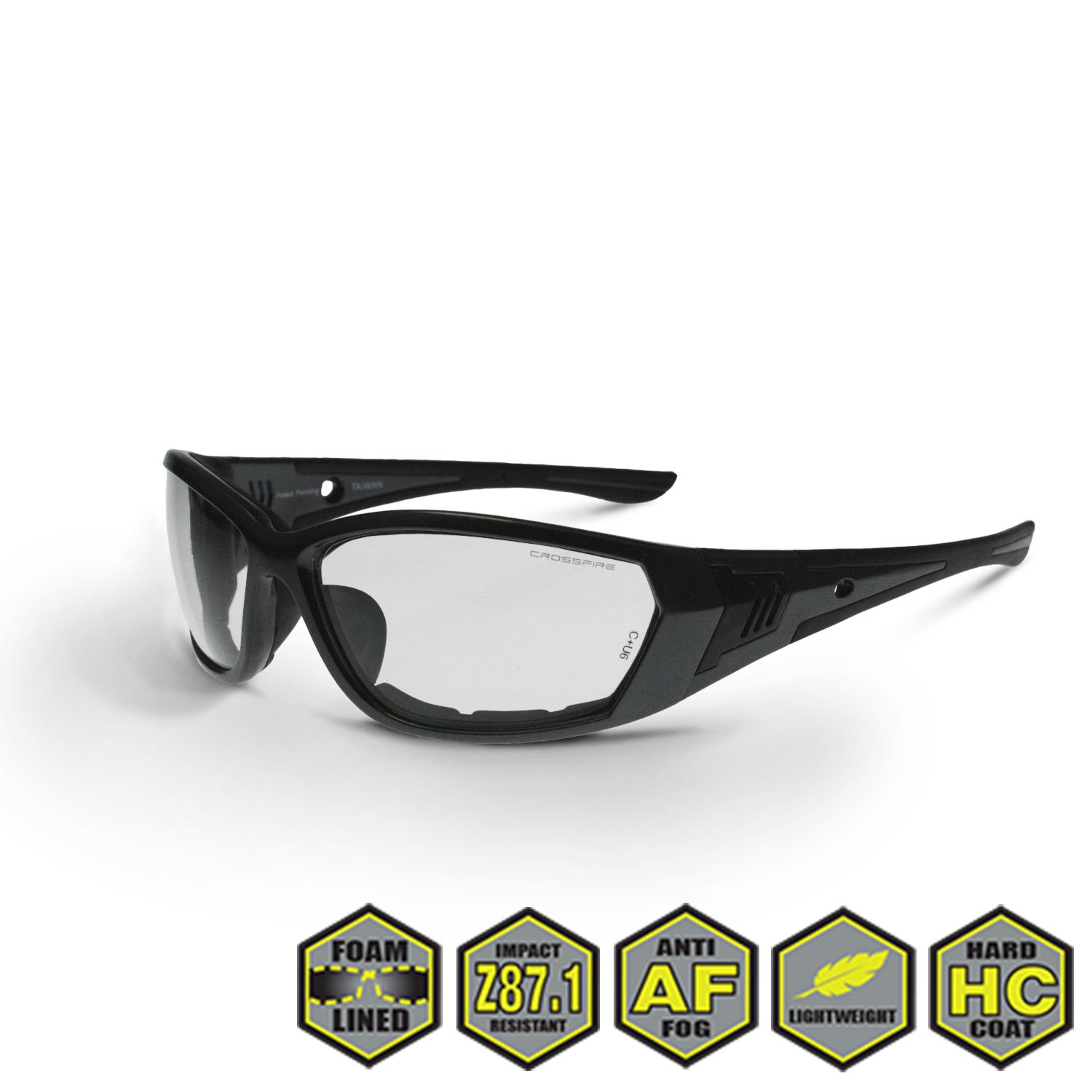 b751040687430 Radians Crossfire 3541 Foam Lined Safety Glasses