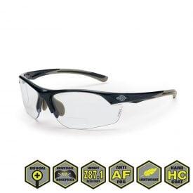 Radians Crossfire Safety Eyewear, AR3 Bifocal Reader's Glasses, Clear Lens, Shiny Pearl Frame