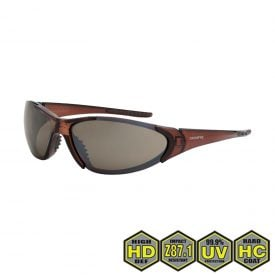 Radians Crossfire Core Safety Glasses, 18117 HD brown flash mirror lens, crystal brown